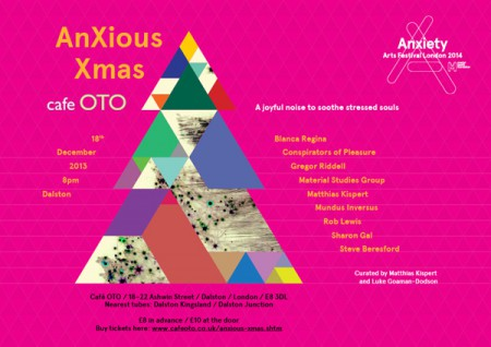 """Anxious"" for Xmas at Cafe Oto…"