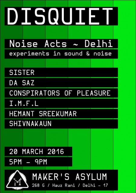 Disquiet at Makers Asylum, Delhi India